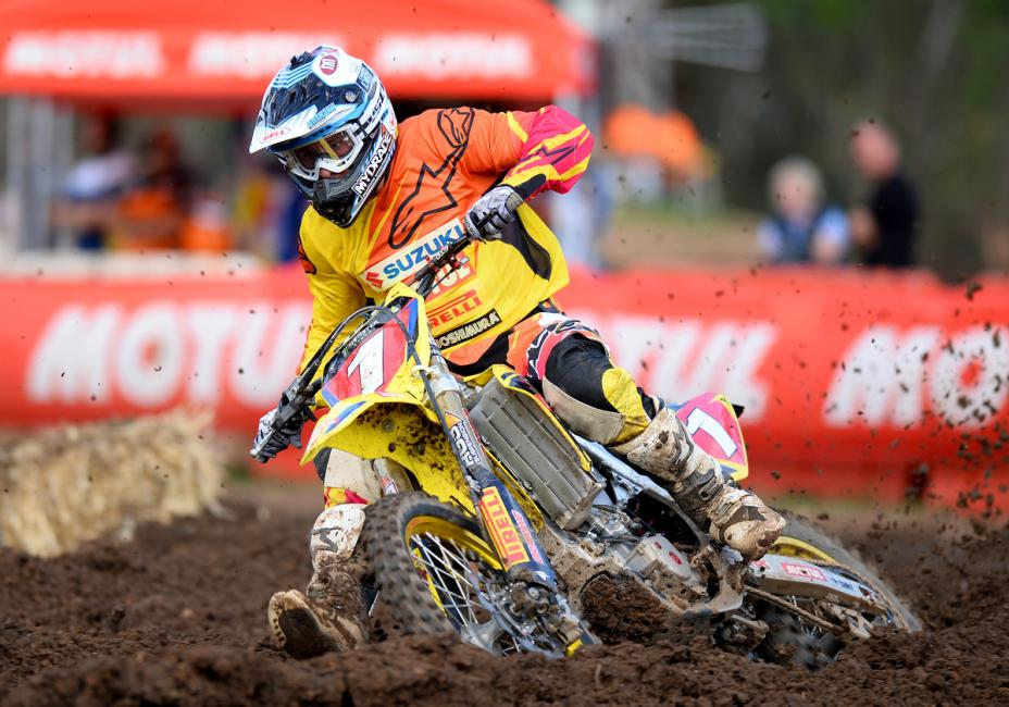 Matt Moss leads the MX1 class Down Under.  Photo: Jeff Crow