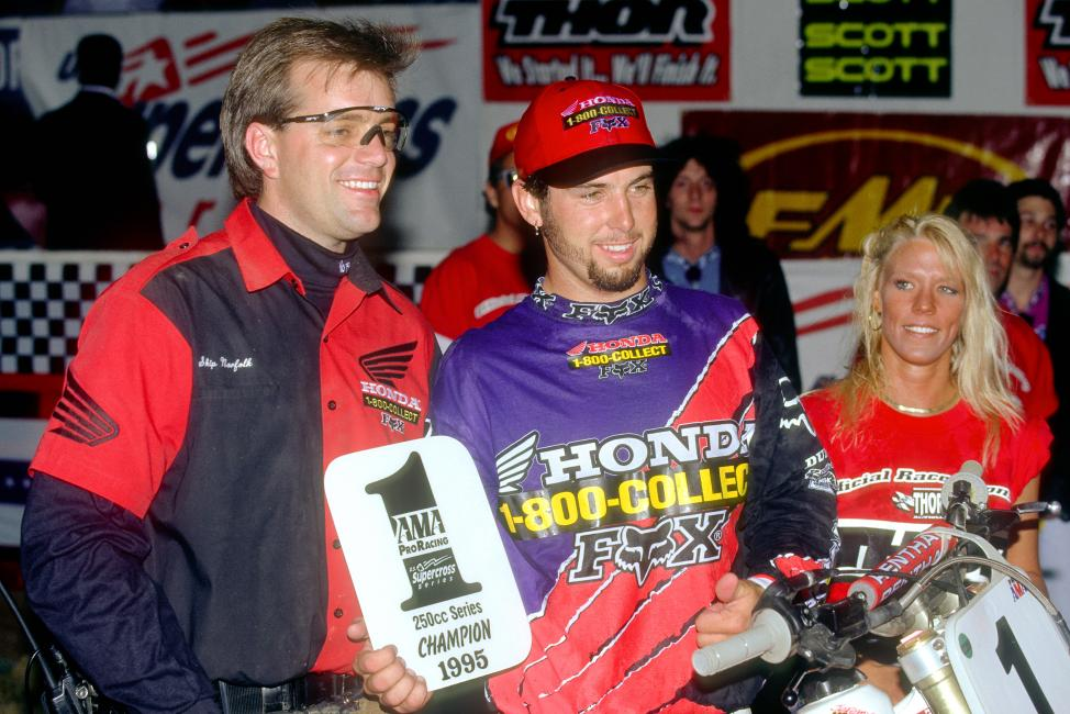 RV joined McGrath as the only riders in history with four straight supercross championships.  Photo: Fran Kuhn