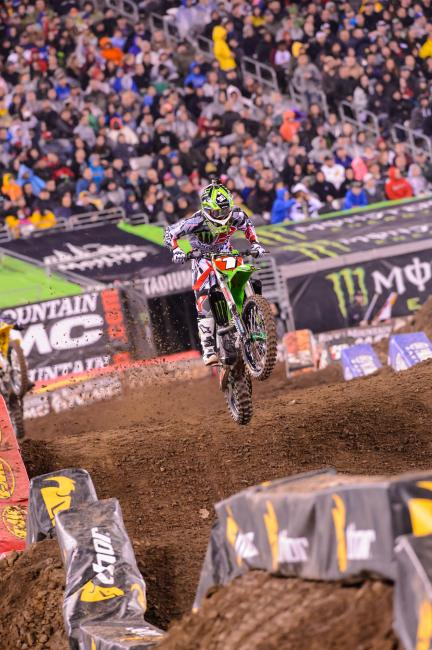 "For a guy who was more of an ""outdoor guy"" when he came in, RV has come a long way in supercross. Photo: Cudby"