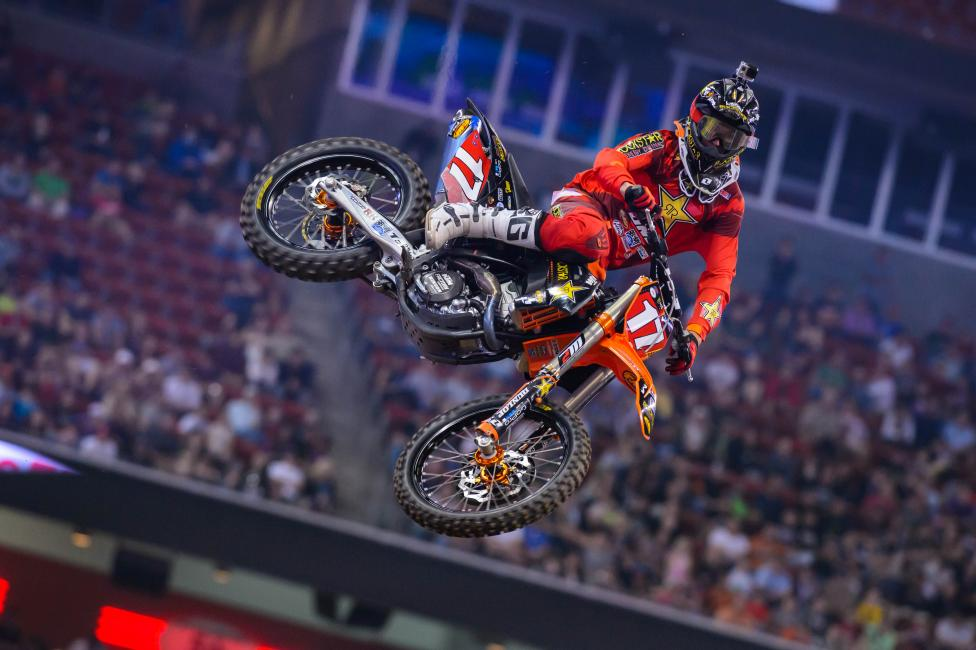 Anderson has held the red plate for most of the 250SX West campaign.