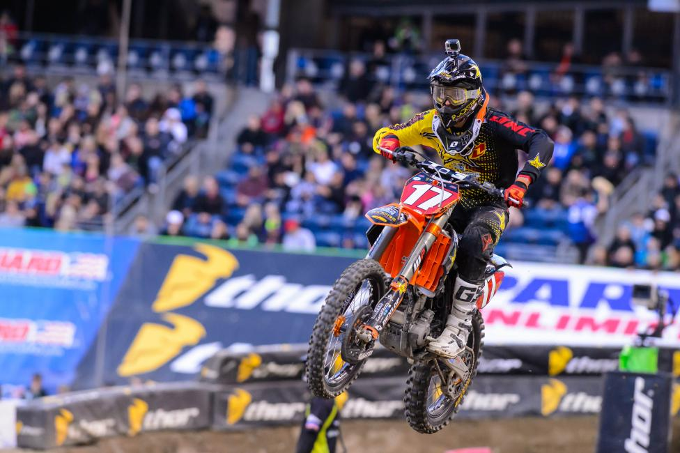 Jason Anderson holds the 250SX West Region lead heading to Vegas.  Photo: Simon Cudby