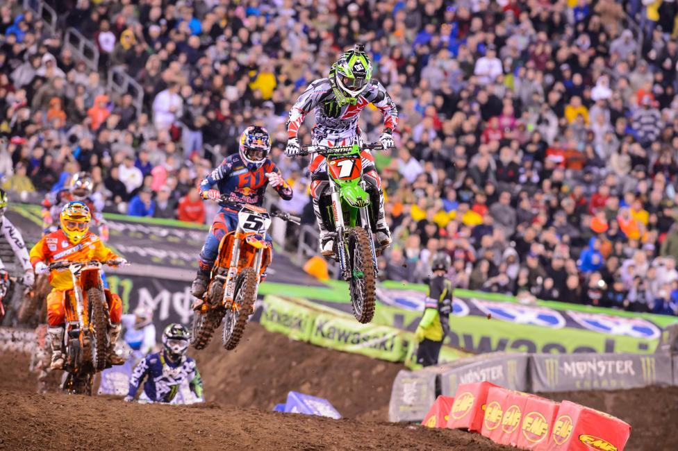 Although Ryan Villopoto wrapped up his fourth title last weekend, he will be going for another win in Vegas on Saturday.
