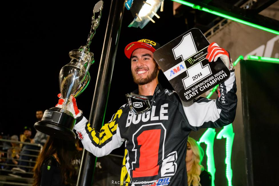 Justin Bogle captured the 250SX East Region title.
