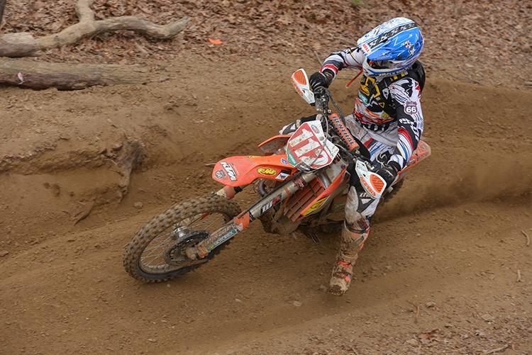 Charlie Mullins leads in GNCC XC1 racing.  Photo: Ken Hill