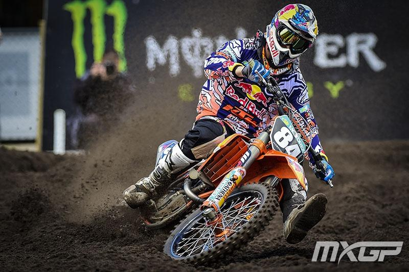 Jeffrey Herlings went 1-1 in the MX2 Class.  Photo: MXGP