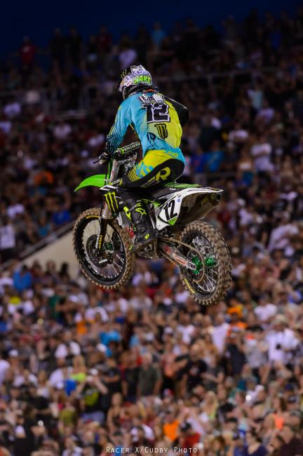 In his second race back from injury, Jake Weimer holeshot the main and rode well most of the way.  Photo: Cudby