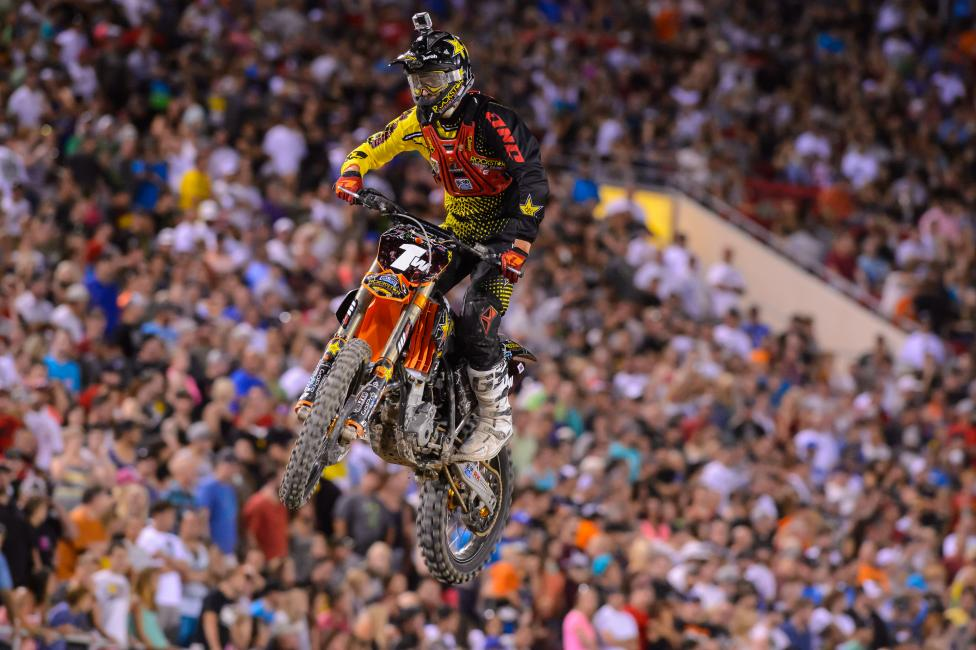 Anderson is moving to the 450 next year, so he wanted to get a ride in with the #1 plate in the East/West Shootout.
