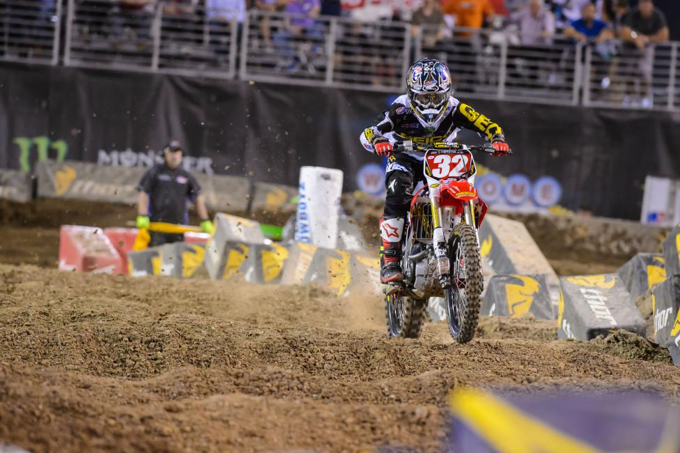 Justin Bogle cruised to his first career 250SX champion in Vegas.  Photo: Simon Cudby