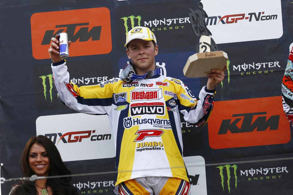 Romain Febvre finished second overall in MX2. Photo: Husqvarna