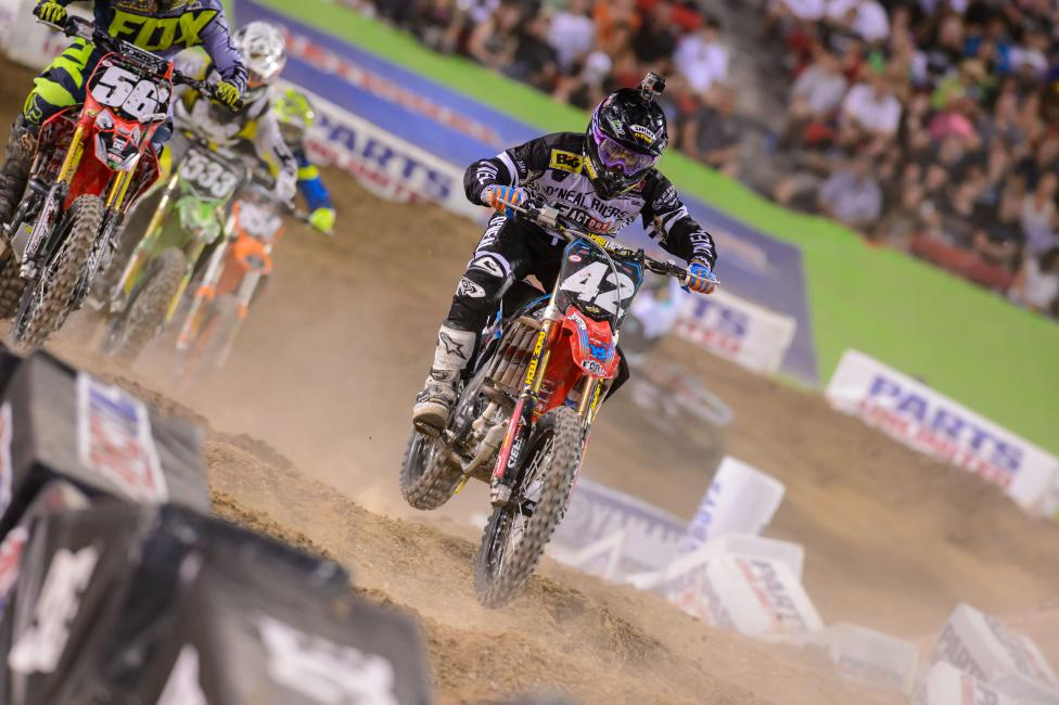 Friese capped a superb season by snagging third in the final 250SX East standings.Photo: Simon Cudby