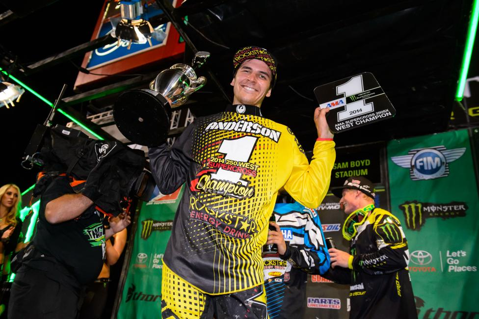 Jason Anderson clinched his first career title in Vegas.  Photo: Simon Cudby
