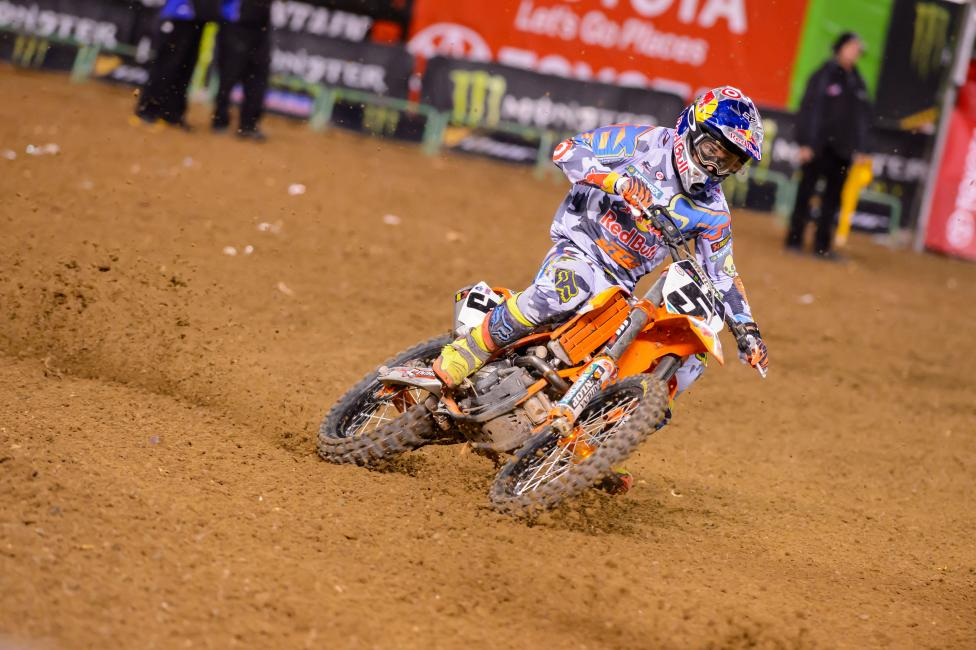 Only one win for Ryan Dungey in 2014, but he was consistent as ever.  Photo: Simon Cudby