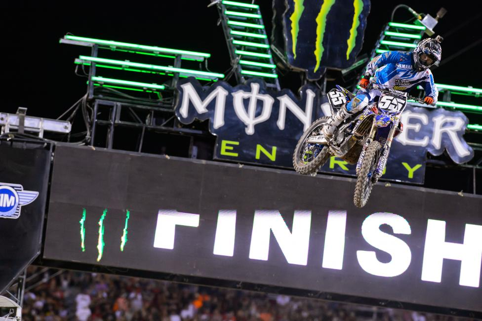 Alex Martin helped Cycle Trader.com Rock River Yamaha to a banner night for the team in Vegas.  Photo: Simon Cudby