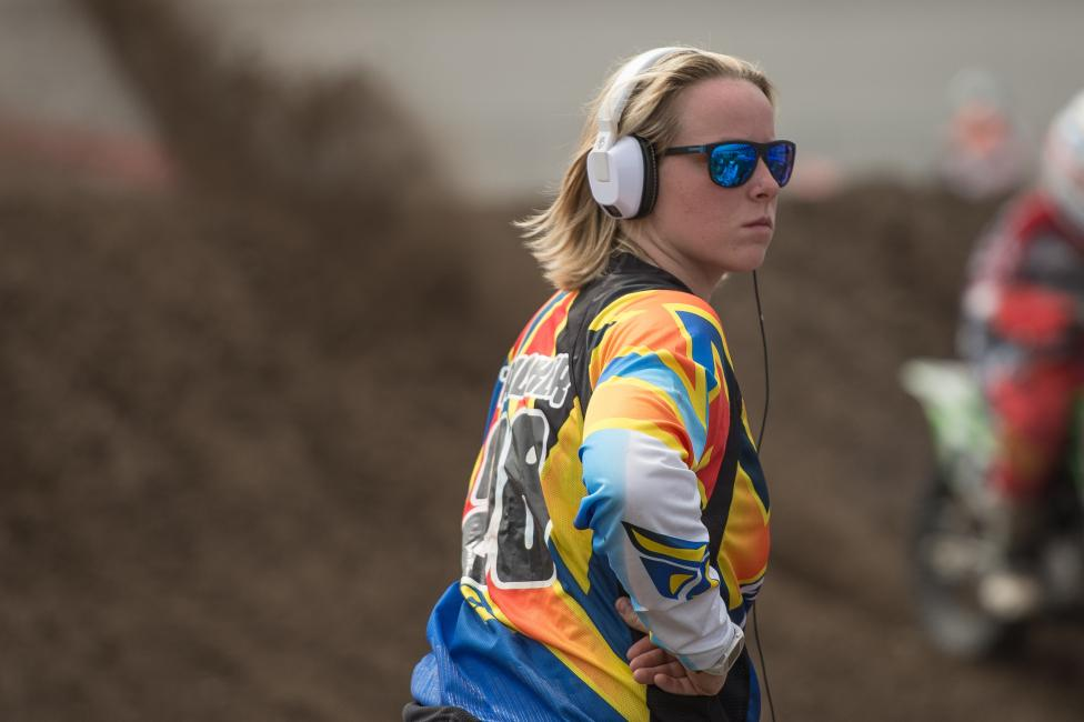 Mackenzie Tricker leads the Women's Motocross Championship.  Photo: Shan Moore