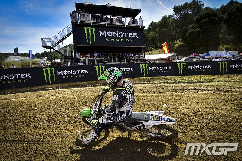 Dylan Ferrandis en route to a second place finish in MX2.  Photo: MXGP