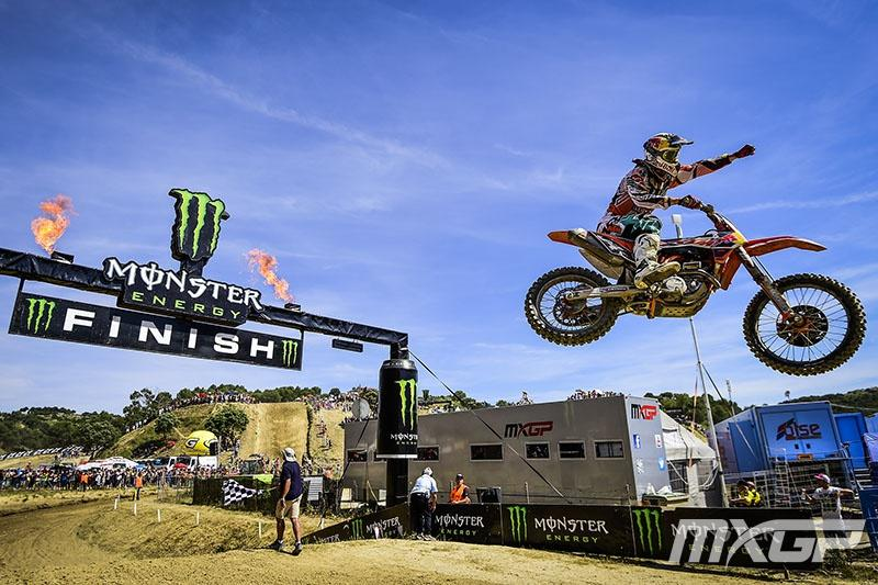 Jeffrey Herlings rolled to a 1-1 win and extended his points lead.  Photo: MXGP