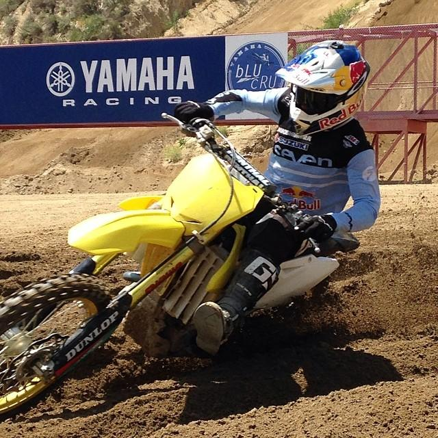 James Stewart testing at Glen Helen last week.  Photo: David Pingree