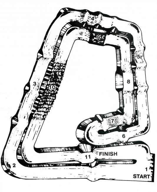 The Anaheim '84 track map.
