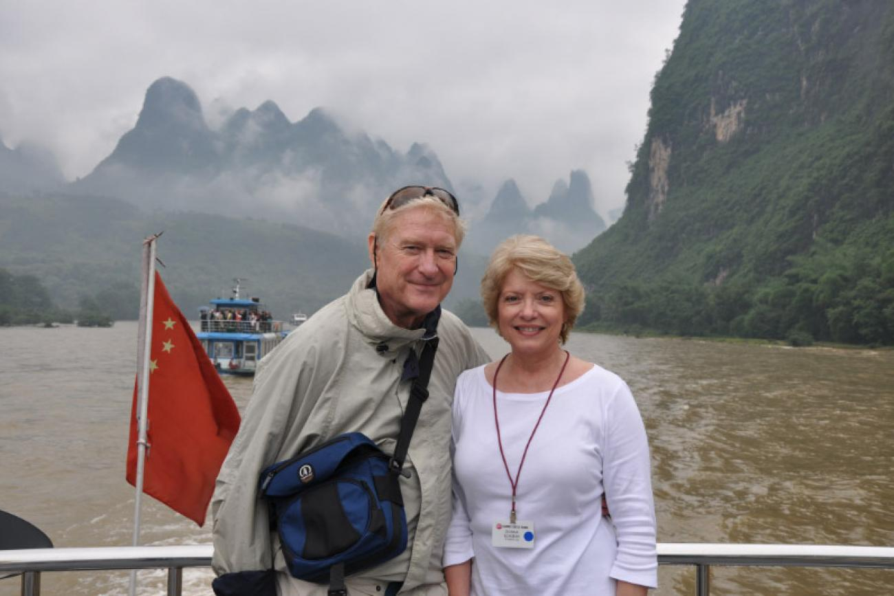 Art and Donna while touring China, where they spent seven days on the Yangtze River.Photo: Art Eckman