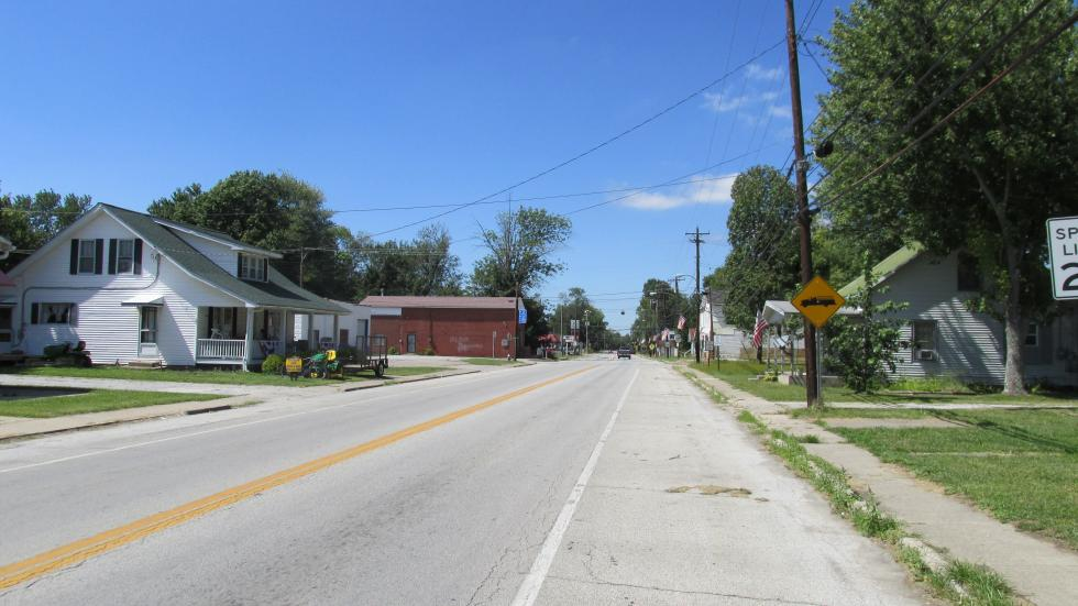 Looking northwest today on Main Street (Ohio Highway Rt. 125) in Hamersville.