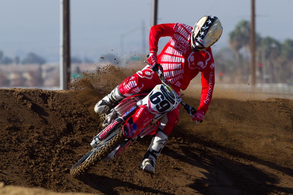 Larsen raced 450SX on a Honda last year, before racing the East Region for Eleven-10 Mods.  Photo: Carlos Aguirre
