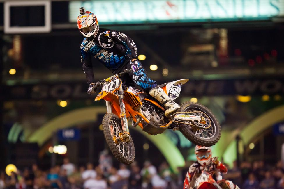 After winning two titles in Australia, Larsen returned to the states with JDR KTM.
