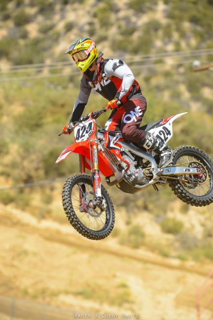 Charles Castaloo of Tag Metals, Sunline and One Industries at the Racer X Ride Day. Photo: Simon Cudby