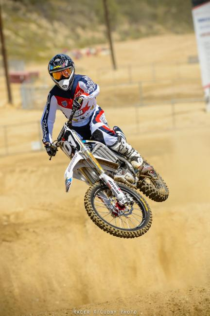 Ping cutting laps at the Racer X Ride Day.