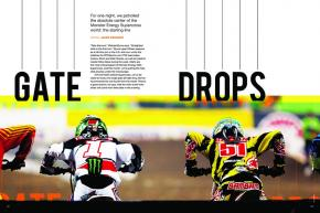 We staked out a single spot on the Detroit Supercross gate to tell the story of an entire race, one start at a time. Page 94.