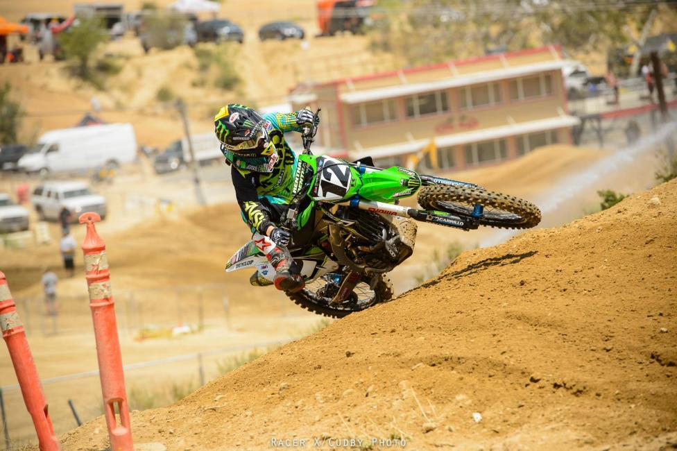 Jake Weimer (pictured here) and Brett Metcalfe will hold the fort for Monster Energy Kawasaki with Ryan Villopoto out for the season.  Photo: Simon Cudby
