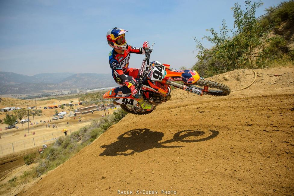 Ken Roczen will make his 450MX debut this Saturday. Photo: Simon Cudby