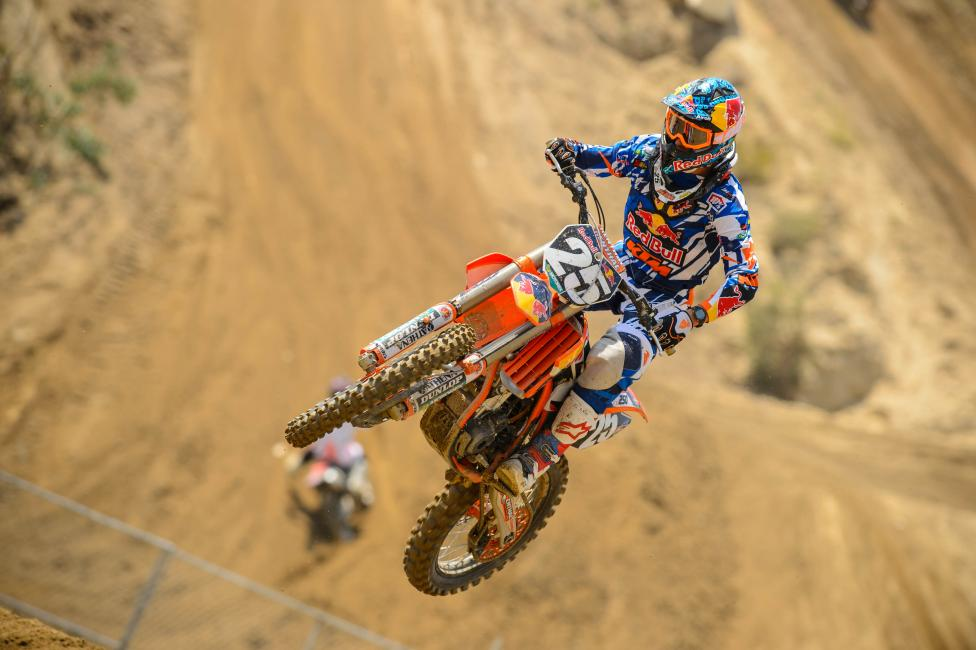 Will we see the same Marvin Musquin that won two overalls early last season? His knee injury was a setback, but if he comes out hot, a title is well within reach.Photo: Cudby