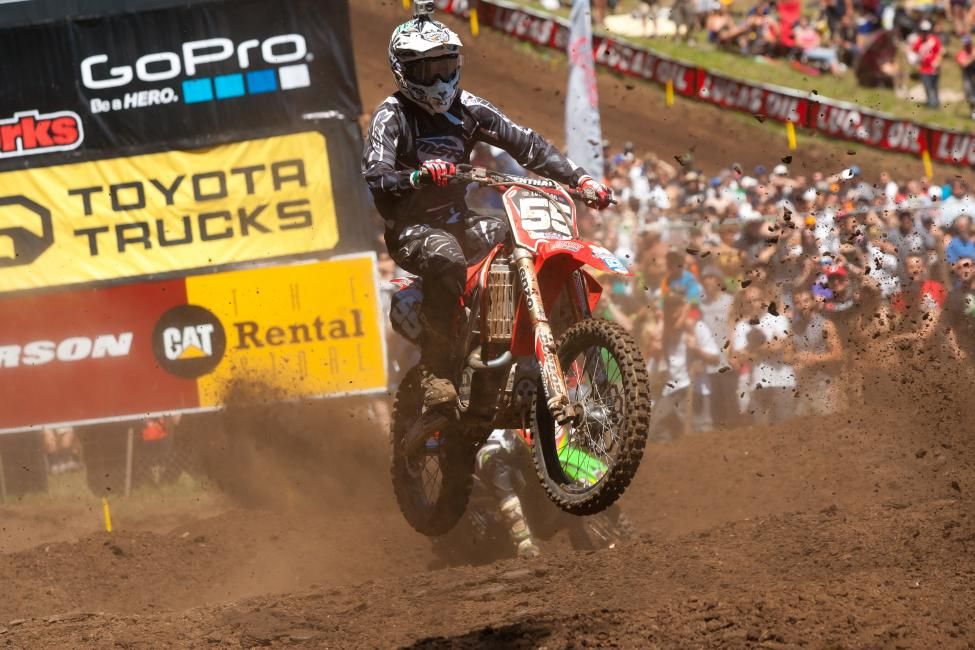 Weeck is always strong at his home race -- Washougal. He captured a surprising sixth in the first moto there in 2011.