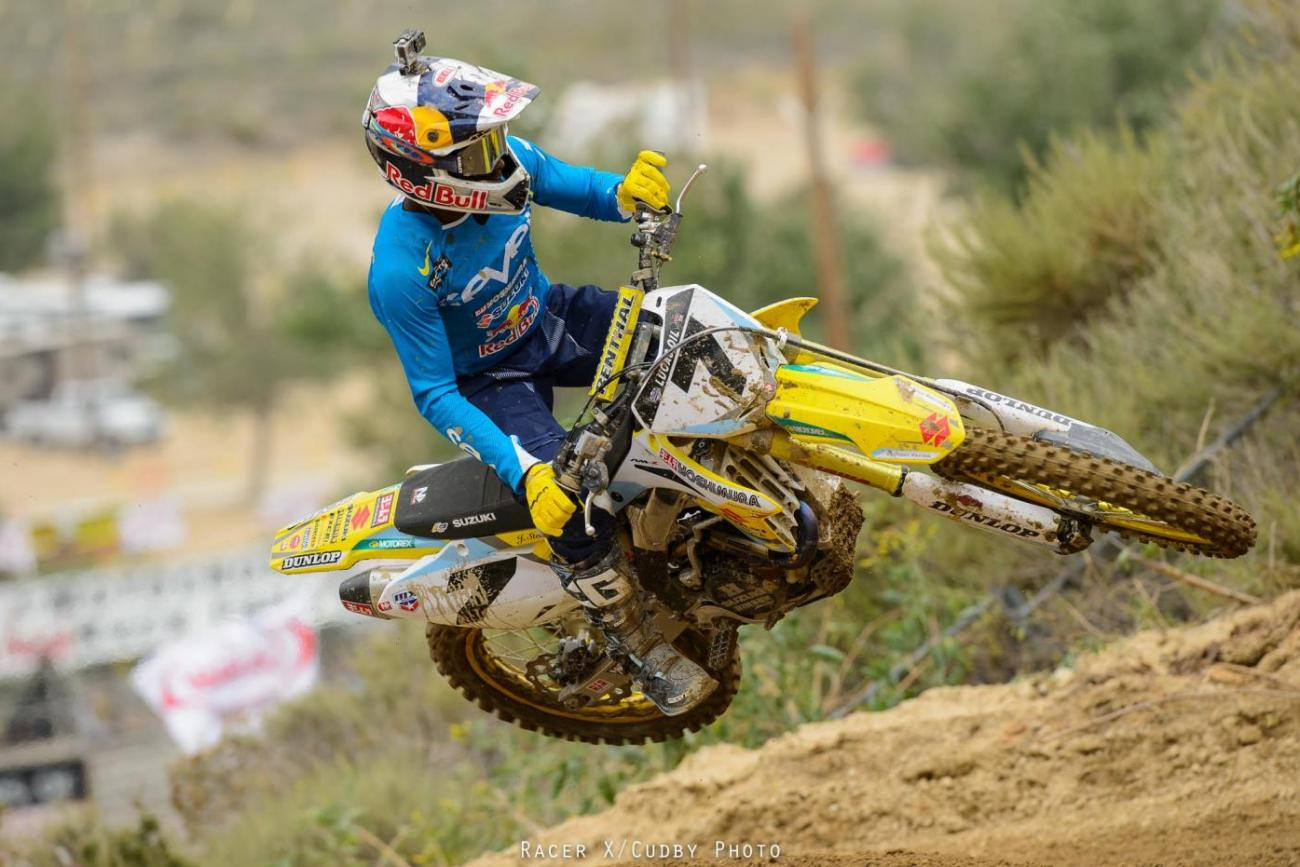 James Stewart and the rest of the 450 Class kick things off tomorrow.  Photo: Simon Cudby