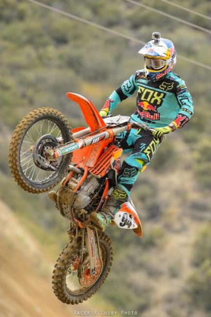 Can Dungey's Red Bull KTM teammate, Ken Roczen, put a fight for a title in his rookie 450MX season? Photo: Simon Cudby