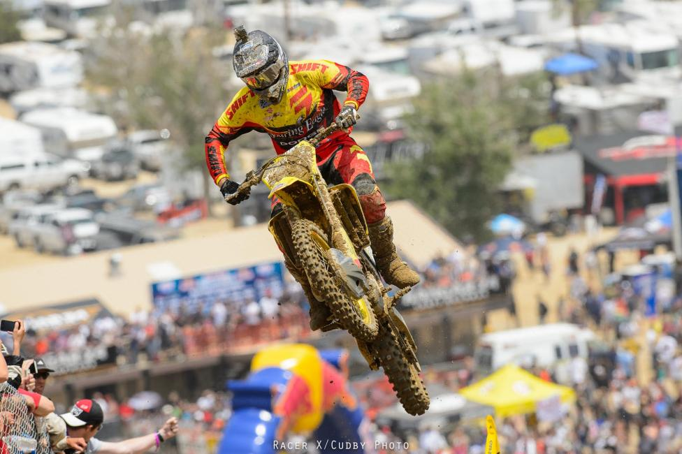 Weston Peick was excellent in his debut with Soaring Eagle RCH Suzuki, taking fifth in the first moto.Photo: Cudby