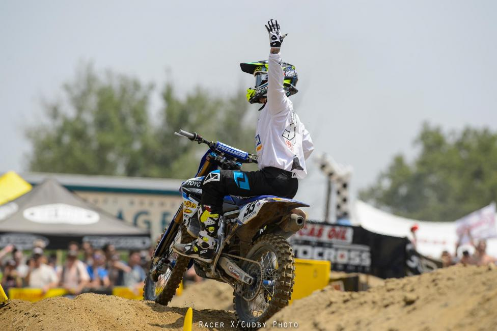Josh Grant was back on top in the first 450MX moto of the year.Photo: Cudby