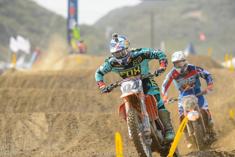 The Red Bull KTM teammates put on a great race for the Southern California crowd.Photo: Cudby