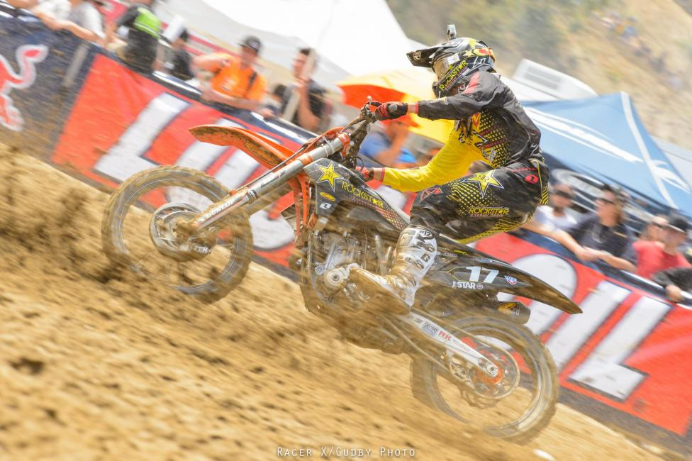 A blown motor in the second moto ruined Anderson's podium.Photo: Cudby