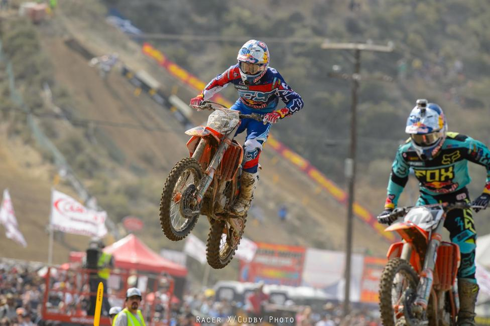 The Red Bull KTM teammates were on point at Glen Helen.Photo: Cudby