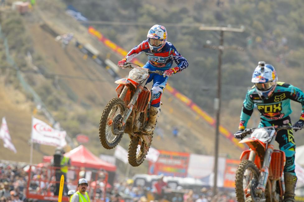 Dungey made it work at the end to collect the overall. Photo: Simon Cudby