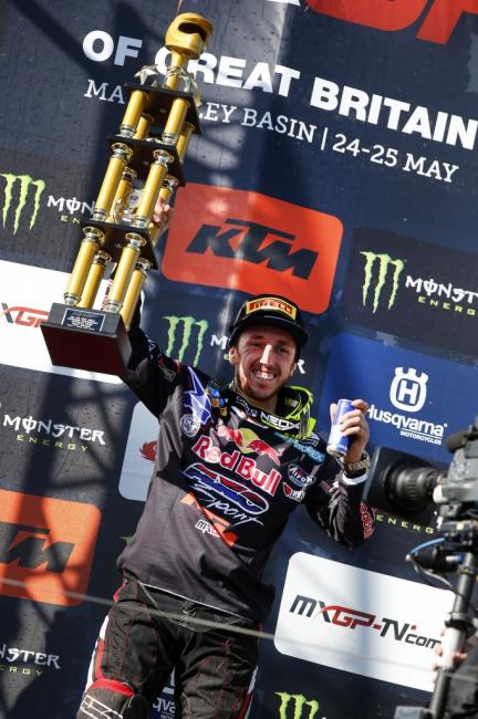 Emotional win for Cairoli at the MXGP of Great Britain. Photo: Ray Archer
