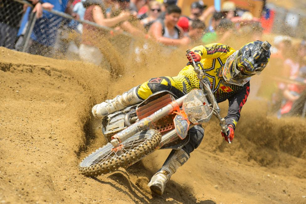 Jason Anderson was done in by bike problems in the second moto.