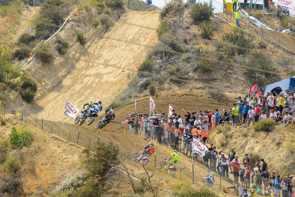 It is all about corner speed when climbing the massive hills of Glen Helen says Jason Thomas.