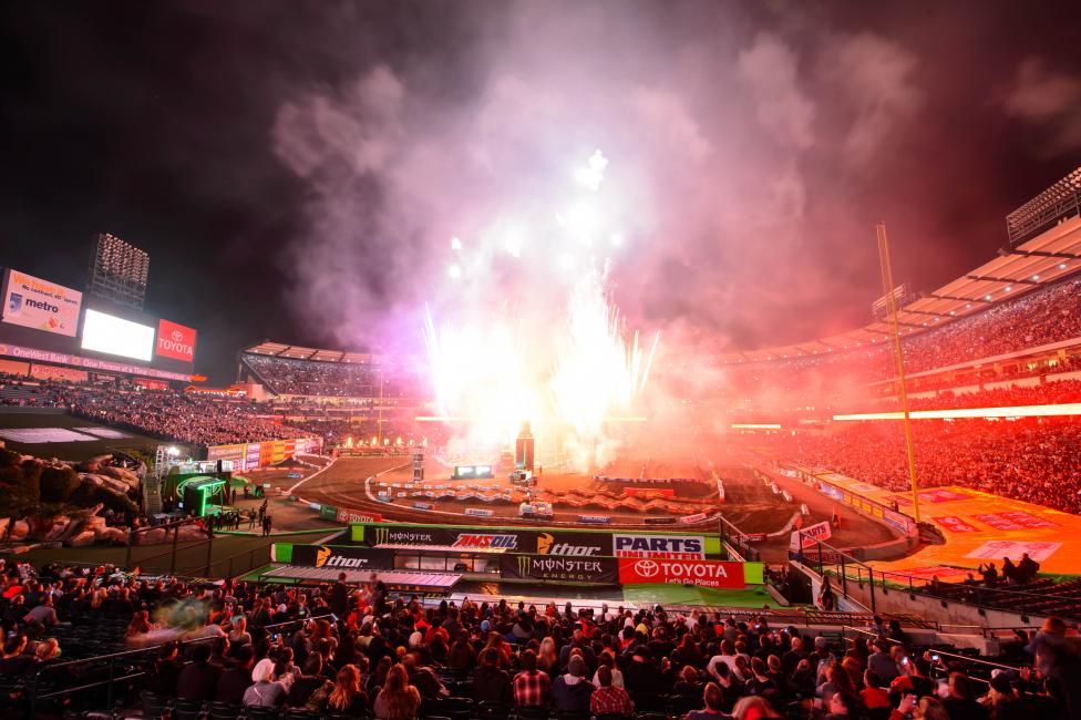 Monster Energy Supercross saw the biggest crowds in history this season. Photo: Simon Cudby