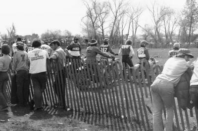Riders await the start of the first-ever 125 National, as 1974 marked the first year for a 125 National Championship class.