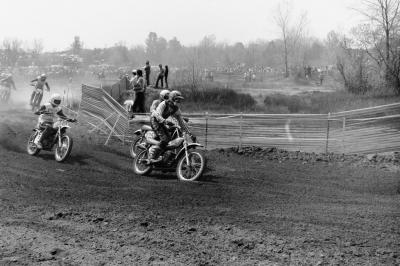 This is for #810 Jeff Greenberg, longtime moto enthusiast who drove out from Ohio in 1974 to race Hangtown at age 17 to race his Suzuki. He once told us he never knew of any photos of him that existed; now he knows there's one. Check your email later, Jeff!