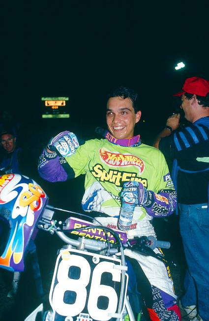 Gonzalez following his first, and only, career supercross win. Photo: Moto Verte