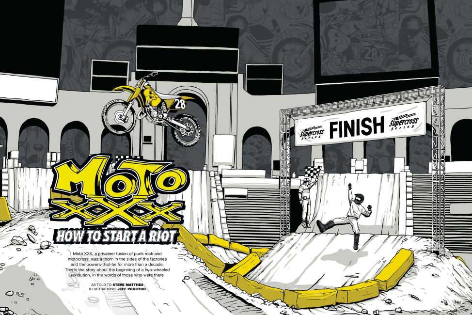 "Read ""How to Start a Riot"" in the July '14 issue of Racer X.Illustration: Jeff Proctor"