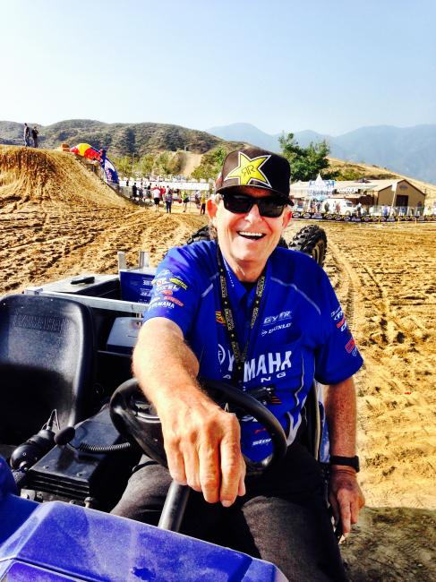 Star Racing boss man Bobby Regan was all smiles following a historic weekend at Glen Helen.  Photo: DC